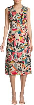Lafayette 148 New York Pammie Sleeveless Wrap Dress