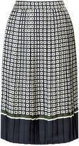 Tory Burch Marea Pleated Midi Skirt