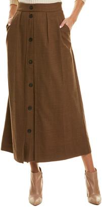 Piazza Sempione Wool-Blend Midi Skirt