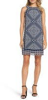 Taylor 8938M Scarf Print Sheath Dress