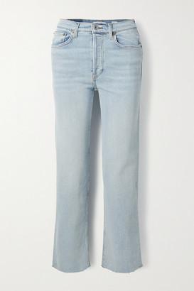 RE/DONE Originals Stove Pipe Comfort Stretch High-rise Straight-leg Jeans - Light denim