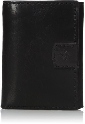 Columbia Men's Rfid Blocking Trifold Wallet With Interior Zipper