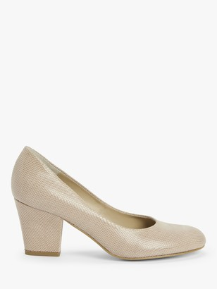 John Lewis & Partners Alma Suede Court Shoes, Pink
