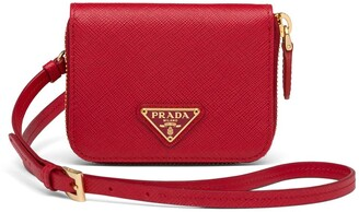 Prada shoulder strap wallet