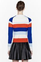 J.W.Anderson Blue Striped Cashmere Raglan sweater