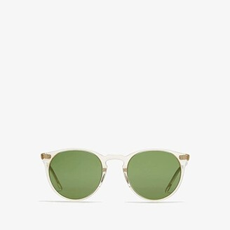 Oliver Peoples O'Malley Sun (Buff/Green) Fashion Sunglasses