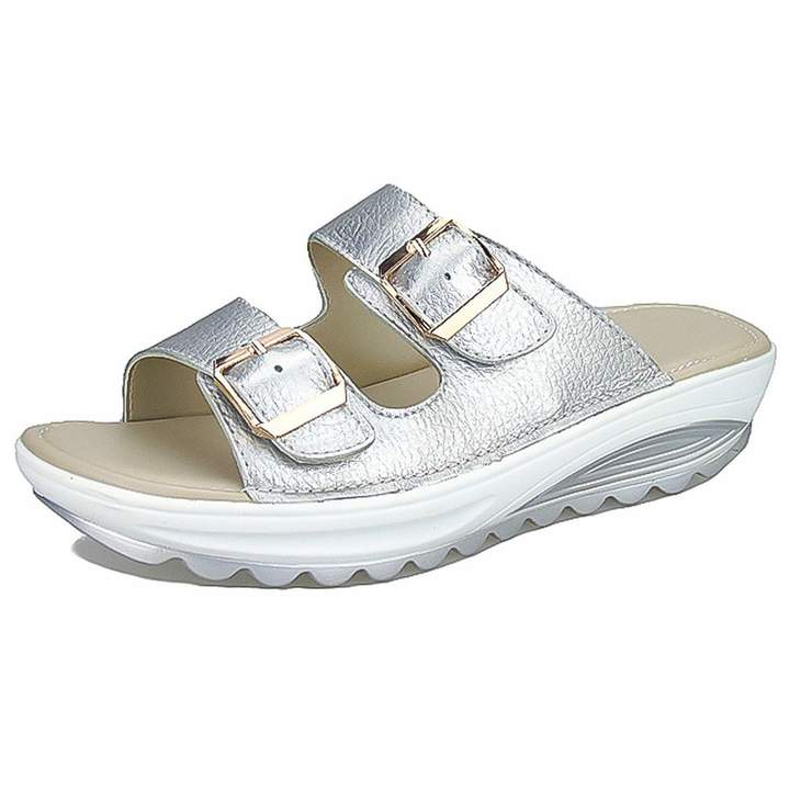 b574c1e5da3d2 Luuvy-shop sandal Summer Women Fashion Sandals Soft Bottom Flat Beach  Sandals Slip-on Buckle Ladies Sandals