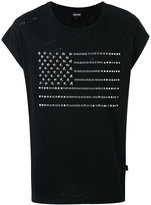 Just Cavalli studded flag T-shirt - men - Cotton/Metal (Other) - L