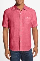 Tommy Bahama Men's 'Party Breezer' Island Modern Fit Short Sleeve Linen Sport Shirt