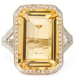 Shay Diamond, Topaz & 18kt White-gold Ring - Yellow Multi