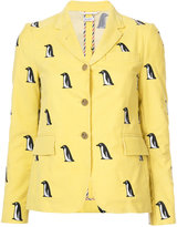 Thom Browne penguin print blazer