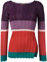 Etro boat neck jumper - women - Cotton/Polyamide/Viscose - 38