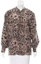 Rachel Zoe Abstract Print Silk Top