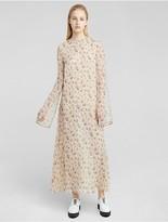 Calvin Klein Collection Floral Print Organza Dress