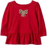 Baby Girl Jumping Beans® Embroidered Peplum-Hem Top