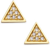 Thomas Sabo Diamond Accent Triangle Stud Earrings in 18k Gold-Plate