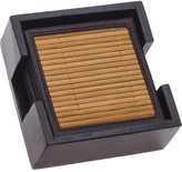Thirstystone 7 Piece Bamboo and Faux Leather Natural Coaster Set