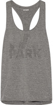 Ivy Park Laser-cut Stretch-jersey Tank - Anthracite