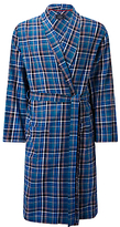 John Lewis Tauru Brushed Cotton Check Robe, Blue