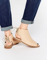 Asos ANNABELLE Leather Lace Up Ankle Boots