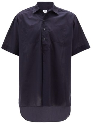 E. Tautz Whitby Short-sleeved Cotton Shirt - Navy