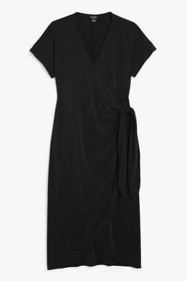 Monki Super- soft wrap midi dress