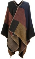 UTOVME Fashion Winter Cashmere Feel Cardigan Large Plaid Blanket Scarf Poncho
