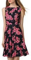 Donna Morgan Women's Floral Jersey Fit & Flare Dress