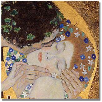 Gustav Trademark Fine Art 'The Kiss' Canvas Art by Klimt