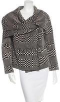 Lela Rose Wool-Blend Knit Jacket