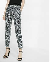 Express mid rise paisley columnist ankle pant