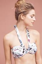 Anthropologie Seafolly Flower Festival Halter Bandeau Bikini Bikini Top