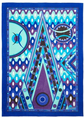 Emilio Pucci Vivara-print Cotton-terry Beach Towel - Womens - Blue Multi