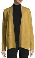 Eileen Fisher Fine Merino Wool Straight Cardigan, Plus Size