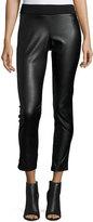 MICHAEL Michael Kors Faux-Leather Leggings, Black