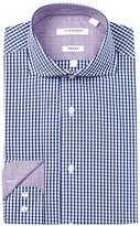 Isaac Mizrahi Twill Check Slim Fit Dress Shirt