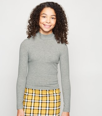 New Look Girls Ribbed High Neck Top