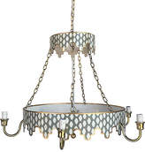 Dana Gibson Parsi Two-Tiered Chandelier - Gray