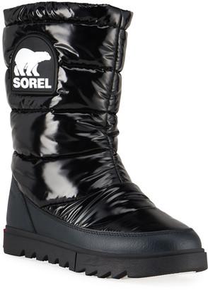 Sorel Joan of Arctic Next Lite Waterproof Patent Puffy Mid Boots