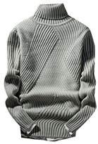 WSPLYSPJY Men's Warm Turtle Neck Long Sleeve Knit Pullover Sweater