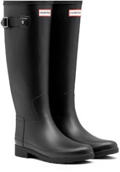 Hunter Black Original Refined Slim Fit Tall Wellington Boots - 38