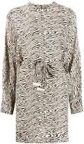 Nanushka Hierro zebra-print dolman sleeve dress