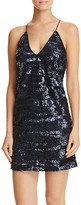 Lucy Paris Cross Back Sequin Slip Dress