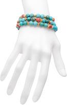 Marie Chavez Turquoise Coral Bracelet Set