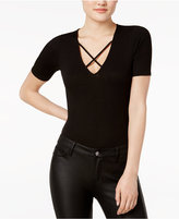 Bar III Strappy V-Neck Bodysuit, Only at Macy's