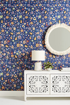 York Wall Coverings Anthropologie Alvina Wallpaper By York Wallcoverings in Blue
