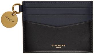Givenchy Black Colorblocked Edge Card Holder