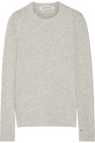 Elizabeth and James Embroidered Knitted Sweater - Light gray