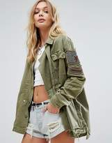 Free People Embellished Military Jacket