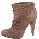 Elizabeth and James Embossed Round-Toe Ankle Boots